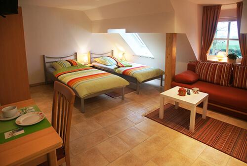 Appartement mit zwei Betten
